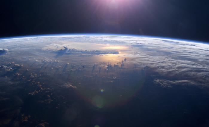 Foto estratosférica do oceano Pacífico | nasa.gov