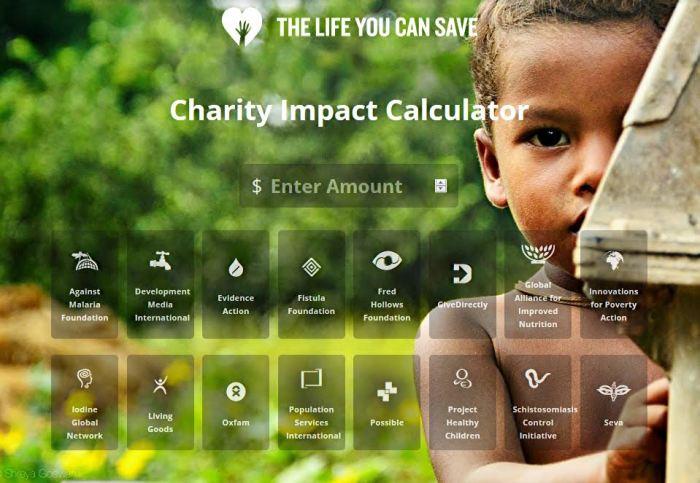 Calculadora de Impacto da Caridade | The Life You Can Save